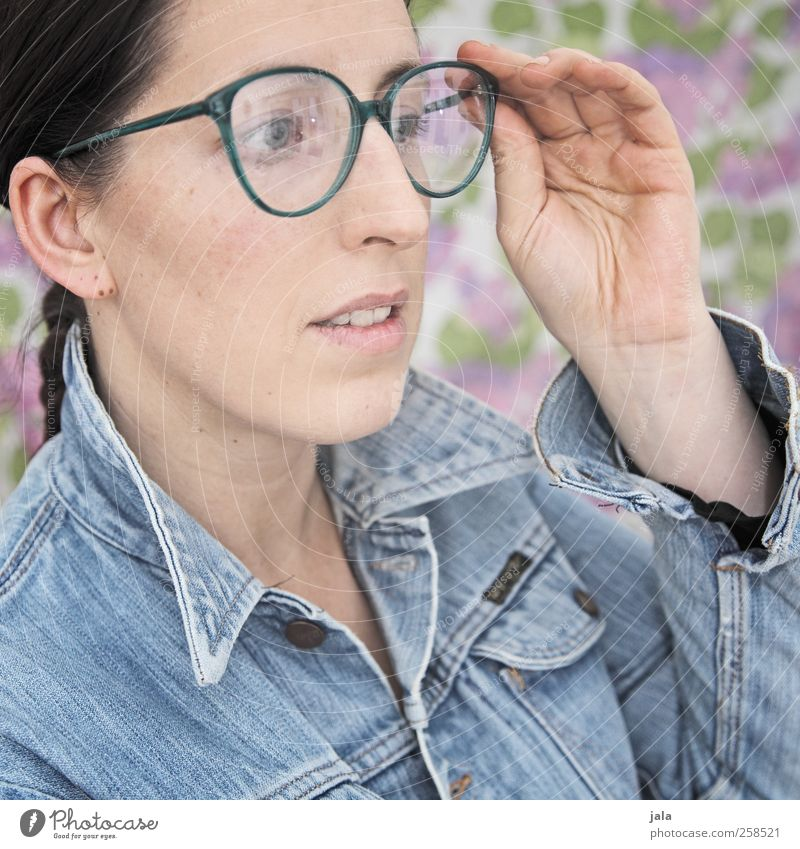 Woman Human being Hand Beautiful Adults Feminine Head Eyeglasses Observe Jacket Brunette 30 - 45 years