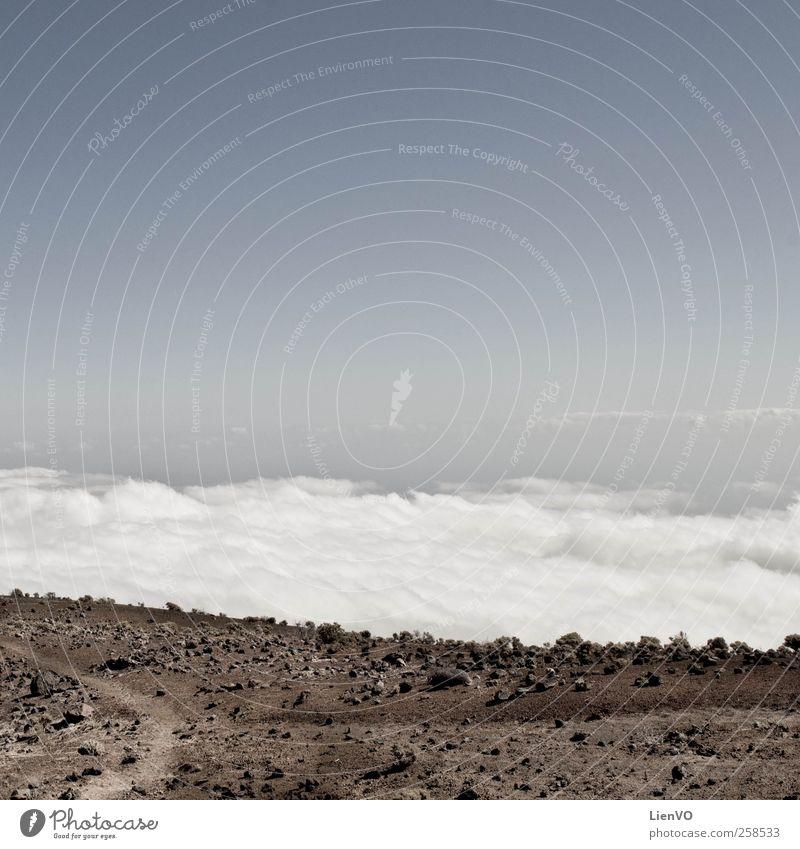 ruta de los Vulcanos Trip Mountain Landscape Earth Sky Clouds Horizon Volcano Stone Sand Discover Dream Far-off places Free Blue Brown Calm Equal Subdued colour