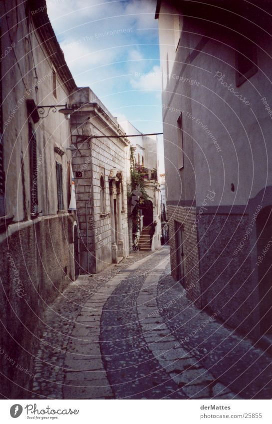 Alley in the south Italy Village Architecture Street Mediterranean Old town Curve