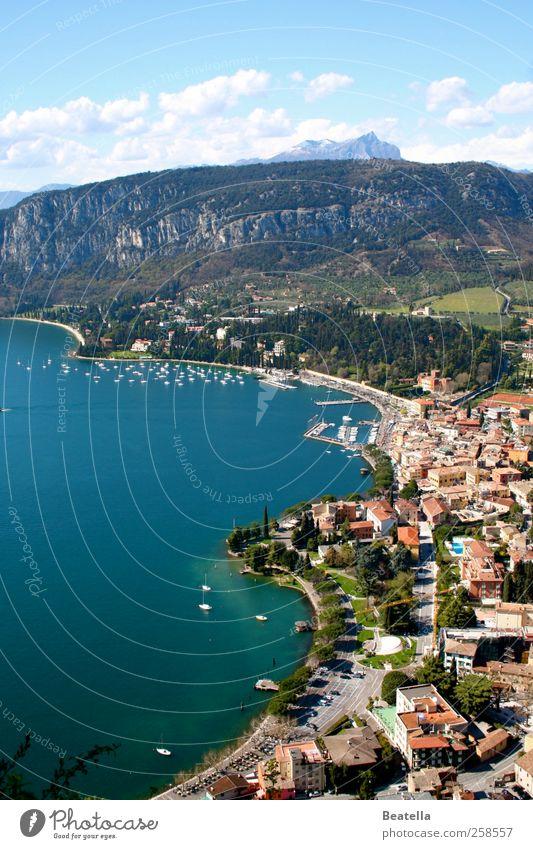 GARDA Vacation & Travel Trip Summer Nature Landscape Water Beautiful weather Rock Mountain Coast Lakeside Bay Garda Lake Garda Italy Small Town