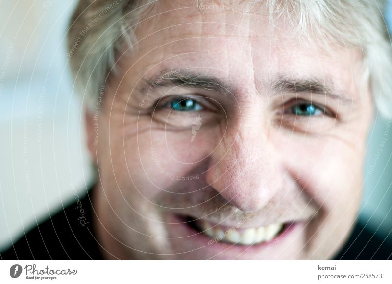 Pinocchio Human being Masculine Man Adults Life Head Eyes Nose Mouth Teeth 1 45 - 60 years Hair and hairstyles Gray-haired Smiling Laughter Friendliness