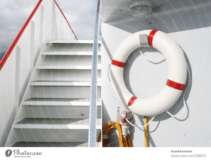 White Red Cold Lamp Watercraft Fear Stairs Safety Clean String Handrail Navigation Risk Rescue Rescue Water wings
