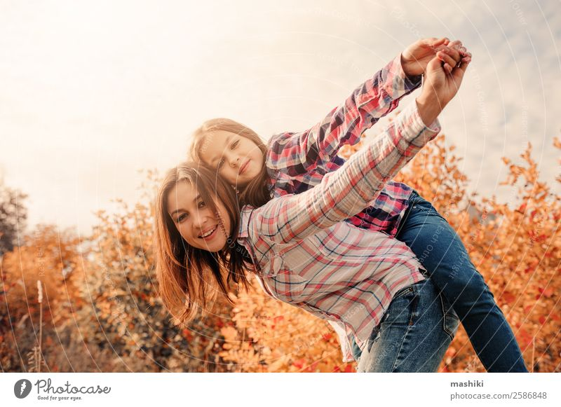 happy mother and daughter having fun Lifestyle Joy Vacation & Travel Summer Child Woman Adults Parents Mother Family & Relations Friendship Infancy Nature