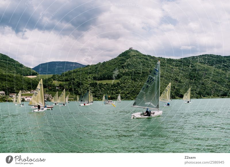 Regatta | Sailing ships | Lake Kaltern Leisure and hobbies Vacation & Travel Trip Freedom Summer vacation Aquatics Nature Landscape Clouds Storm clouds