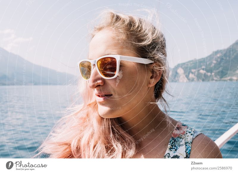 Portrait of a young woman at Lake Garda Lifestyle Leisure and hobbies Vacation & Travel Summer vacation Young woman Youth (Young adults) 18 - 30 years Adults
