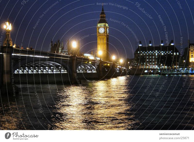 London - Big Ben and Westminster Bridge Clock Tower clock Europe River Architecture