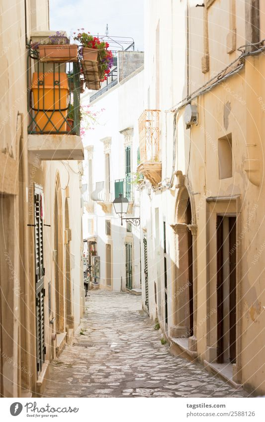 Otranto, Apulia - Alleyway in the old town of Otranto in Italy Architecture Archway Balcony City Cobblestones Europe Facade Fishing village Historic