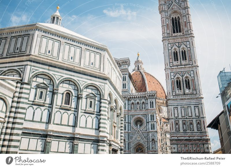 Old Blue Town Religion and faith Tourism Gray Church Esthetic Italy Manmade structures Belief Turquoise Silver Work of art Cathedral Florence