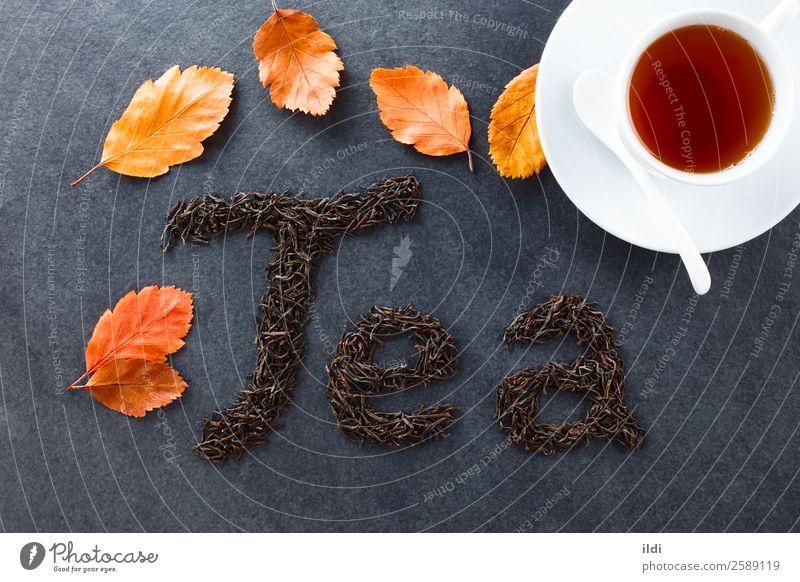 Black Tea Beverage Natural food drink dry Dried Tea plants spelled letter Writing Written camellia sinensis Black tea British english Indian asian red tea