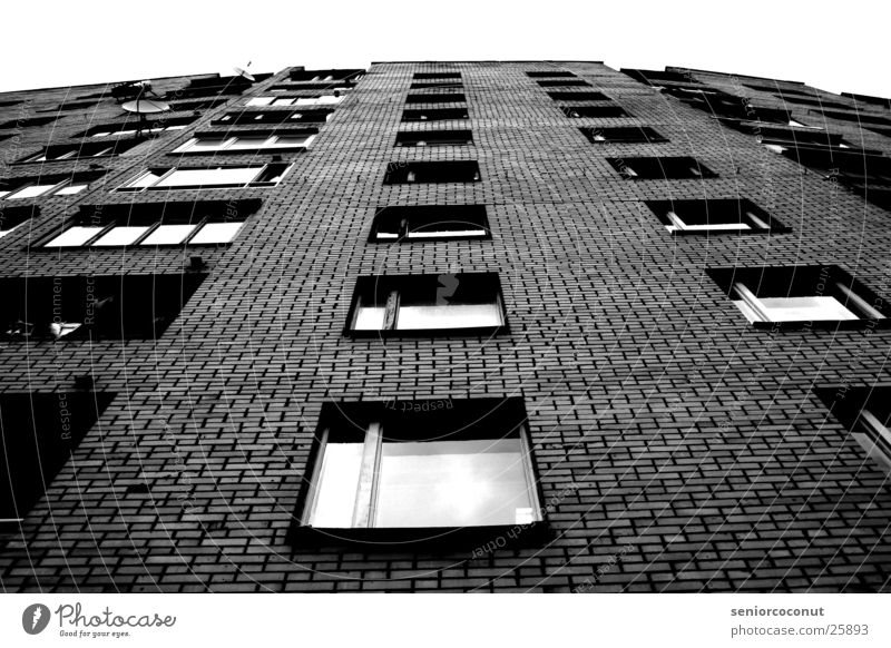 House (Residential Structure) Window Architecture High-rise Living or residing Under Brick Balcony Moscow