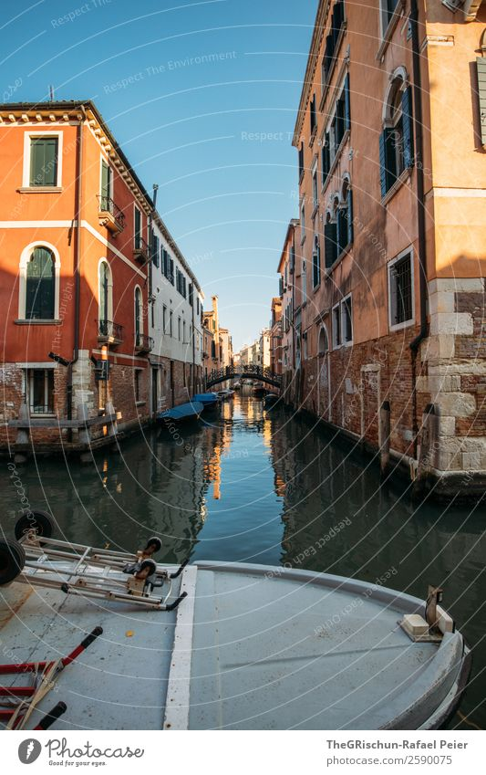 Venice Village Port City House (Residential Structure) Old Blue Brown Gold Italy Tourism Watercraft Channel Bridge Narrow Alley Esthetic Discover