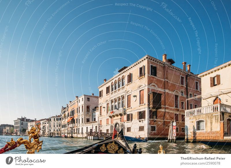 Venice_Gondola Small Town Port City Tourist Attraction Landmark Blue Brown Yellow Gold Italy Building Old times worth seeing Ferris wheel Watercraft Channel