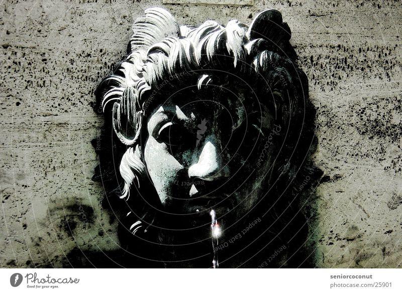 spook Fountain Art Munich Face Water Stone