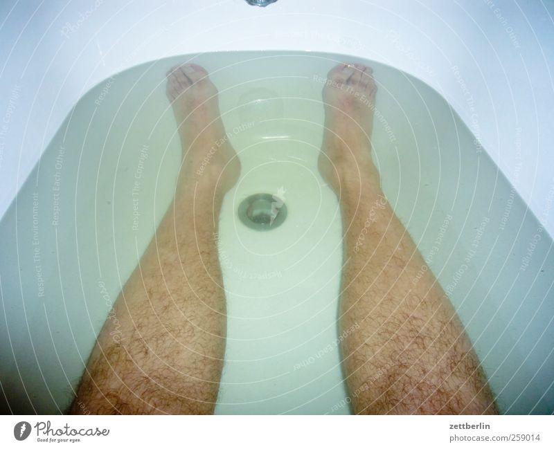 Human being Man Water Beautiful Adults Legs Feet Wellness Bathroom Clean Bathtub Dive Considerable Personal hygiene Foam Drainage