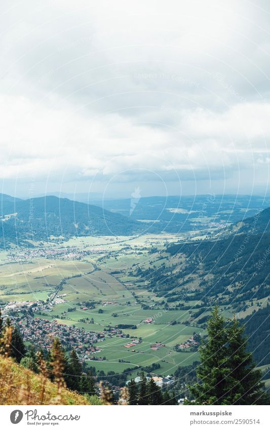 View from Laber towards Oberammergau Leisure and hobbies Vacation & Travel Tourism Trip Adventure Far-off places Freedom Expedition Summer Summer vacation