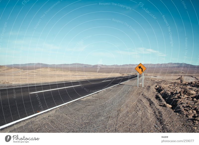 One Way Environment Nature Landscape Elements Earth Sky Horizon Summer Climate Beautiful weather Transport Traffic infrastructure Road traffic Motoring Street
