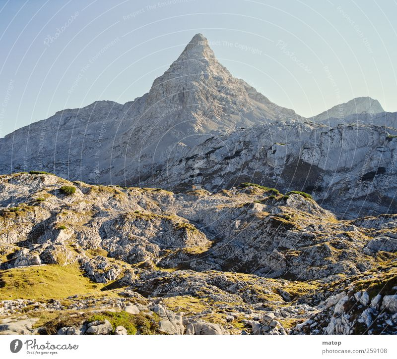 Magic Mountain Vacation & Travel Climbing Mountaineering Nature Landscape Sky Cloudless sky Climate change Beautiful weather Rock Alps Berchtesgaden Alpes