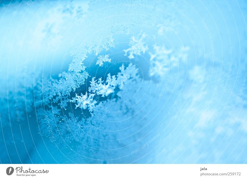 Blue Water Winter Ice Glass Esthetic Frost