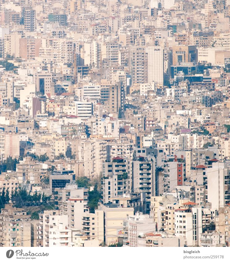 Beirut Lebanon Near and Middle East Town Capital city Downtown Skyline High-rise Living or residing Brown Gray Colour photo Subdued colour Deserted Day