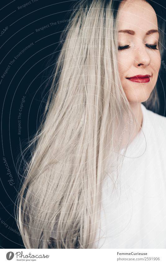 Young woman with grey dyed hair Elegant Style Feminine Youth (Young adults) Woman Adults 1 Human being 18 - 30 years 30 - 45 years Gray Gray-haired Colour