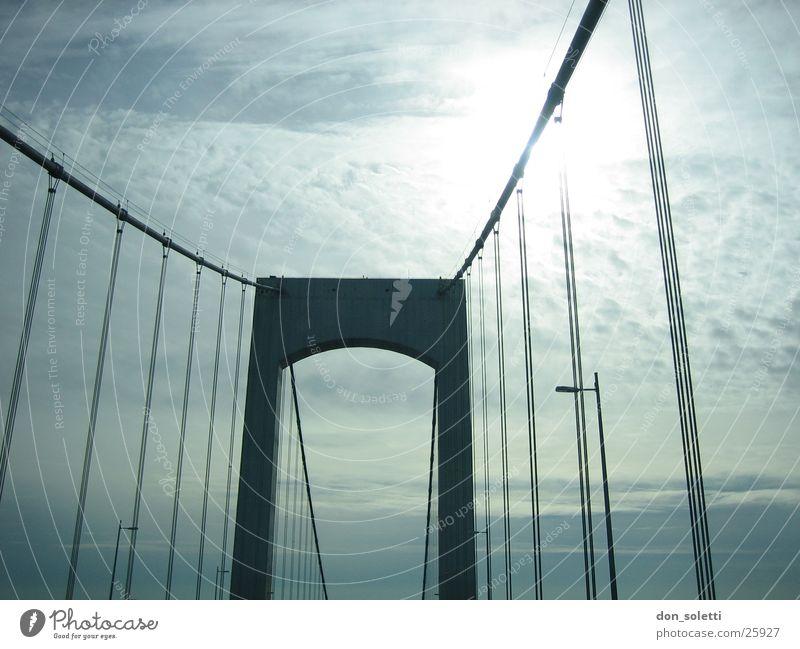 NYC Bridge Dazzle Suspension bridge Sun Sky