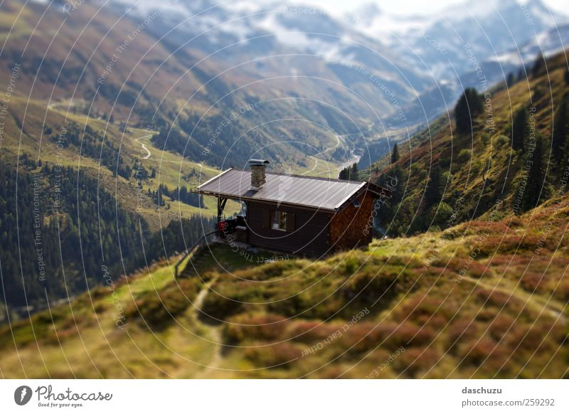 Sattelkopf Hütte Vacation & Travel Trip Adventure Hiking Nature Landscape Alps Mountain St. Anton Austria Europe Arlberg Colour photo Exterior shot Deserted Day