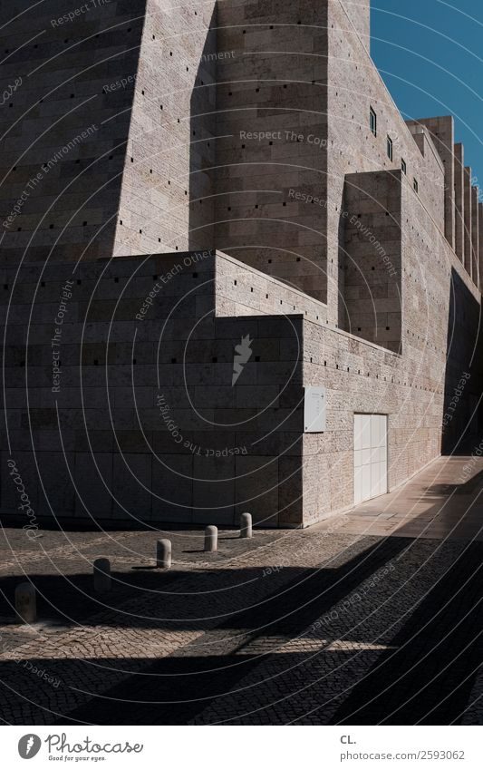 museu coleção berardo Museum Architecture Cloudless sky Beautiful weather Lisbon Portugal Town Deserted Places Manmade structures Building Wall (barrier)
