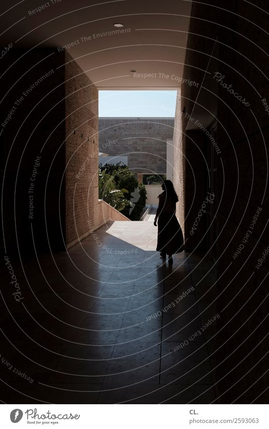 Woman Human being Vacation & Travel Summer Town Architecture Adults Life Wall (building) Lanes & trails Feminine Movement Building Art Tourism Wall (barrier)
