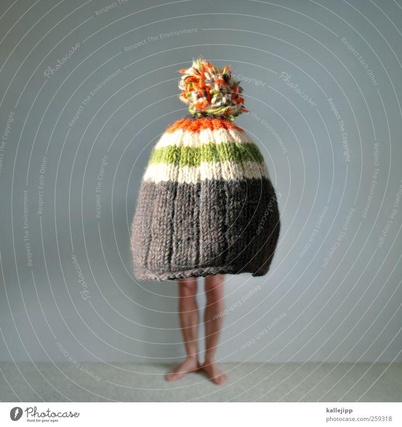 chic knit Human being Man Adults Life Body Skin Legs Feet 1 Fashion Clothing Skirt Dress Cap Freeze Cold Knitting pattern Woolen hat Tuft Large