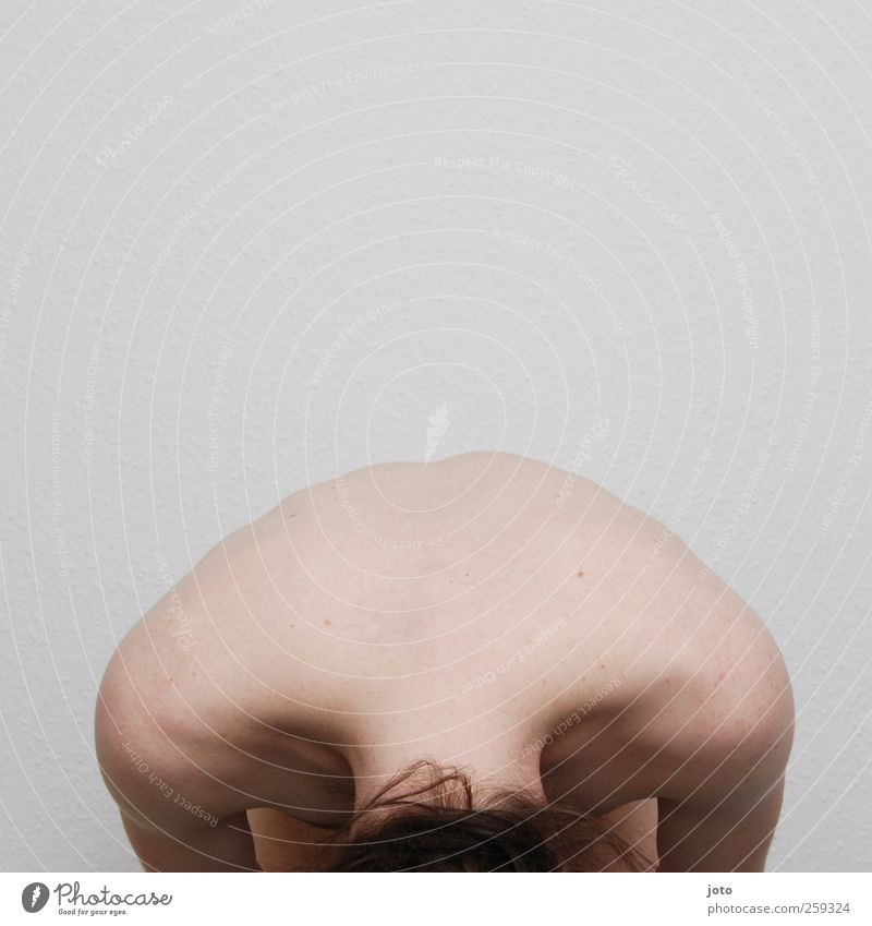 Youth (Young adults) Loneliness Calm Naked Back Natural Masculine Esthetic Nude photography Authentic Grief Protection Longing Young man Serene Pain