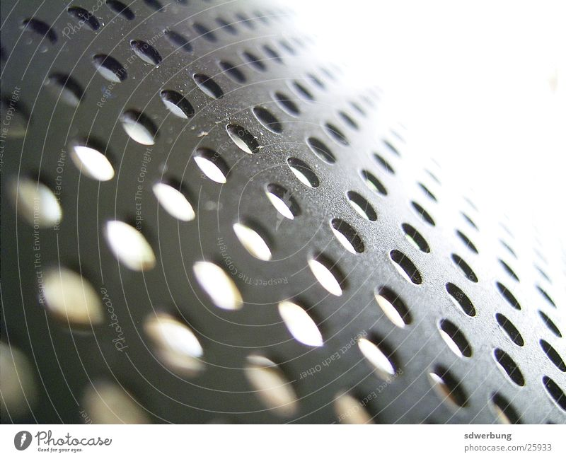 Perforated plate from the kitchen lamp Tin Lamp Grating Black Kitchen Macro (Extreme close-up)