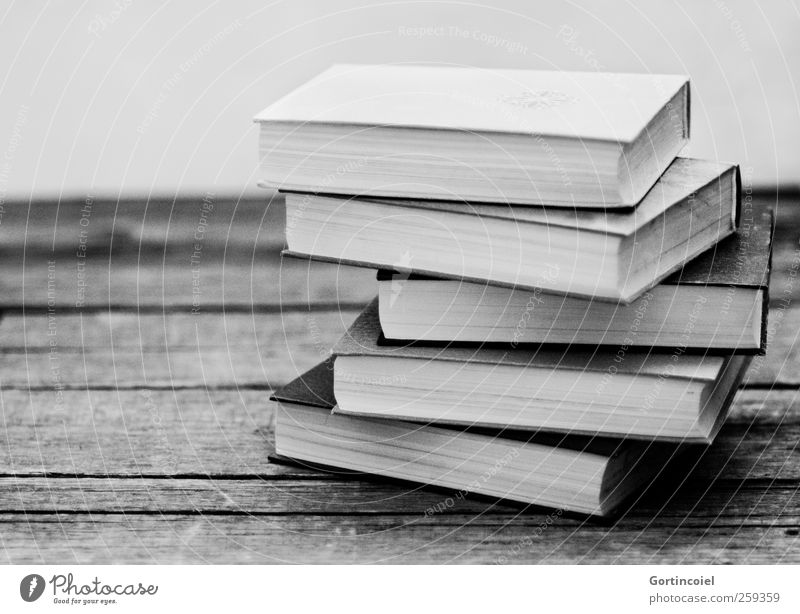 batch mode Education Science & Research School Study Academic studies Book Stack Black & white photo Interior shot Copy Space left Shadow Contrast