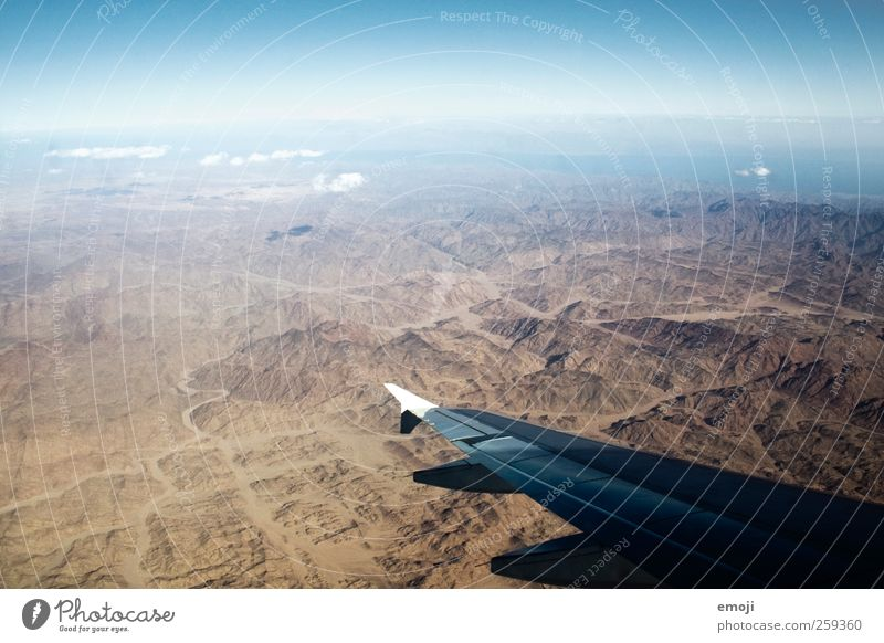 airs Environment Nature Landscape Sky Summer Beautiful weather Drought Peak Canyon Desert Exceptional Airplane Aviation Flying Wing Sparse Colour photo