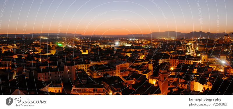 City Vacation & Travel House (Residential Structure) Tourism Illuminate Skyline Vantage point Spain Downtown Panorama (Format) Andalucia City trip Granada