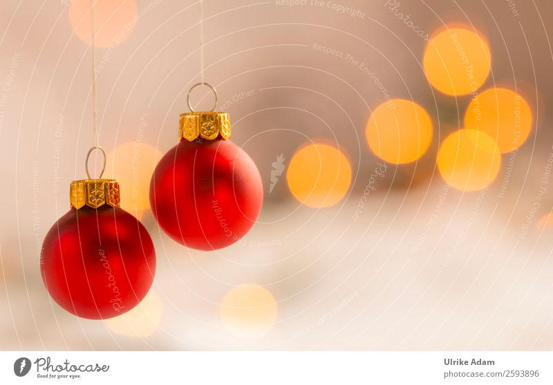 Christmas & Advent Red Calm Warmth Religion and faith Feasts & Celebrations Orange Design Decoration Illuminate Gold Glittering Glass Soft Card