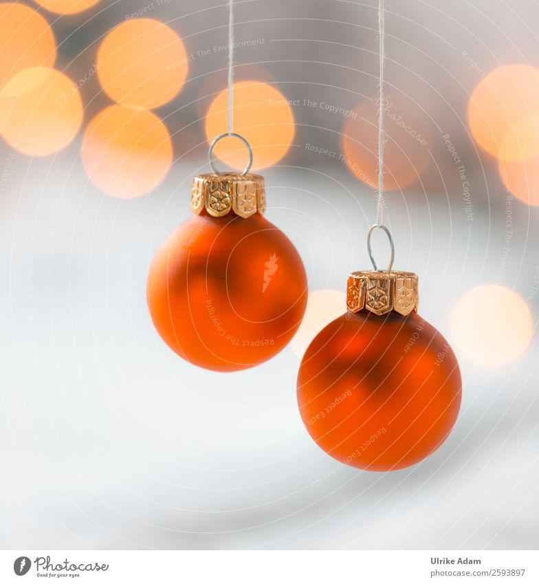 Christmas & Advent Red Warmth Emotions Style Feasts & Celebrations Orange Gray Design Decoration Illuminate Glittering Glass Gold Card Kitsch