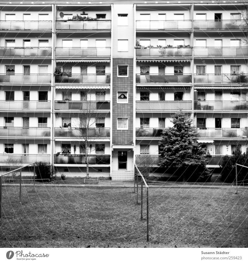 House (Residential Structure) Life Window Garden Building Door Facade High-rise Living or residing Balcony Square Entrance GDR Graphic Prefab construction