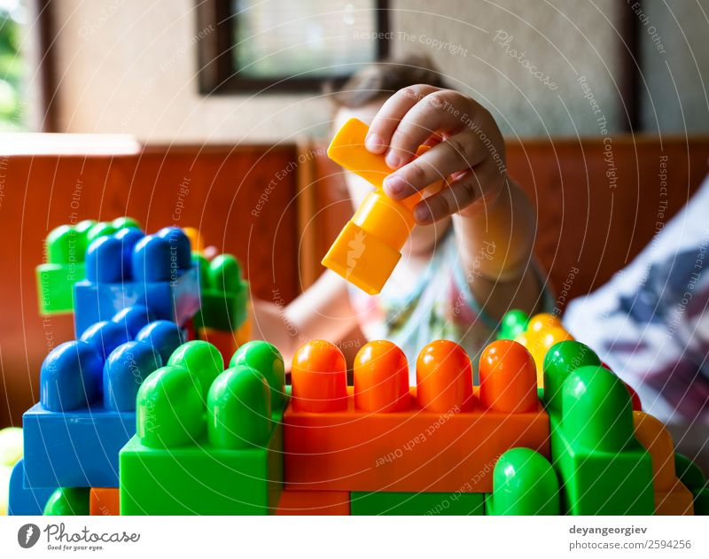 Child playing with cubes Joy Leisure and hobbies Playing Kindergarten School Baby Toddler Infancy Building Toys Small kid nursery blocks kids girl education