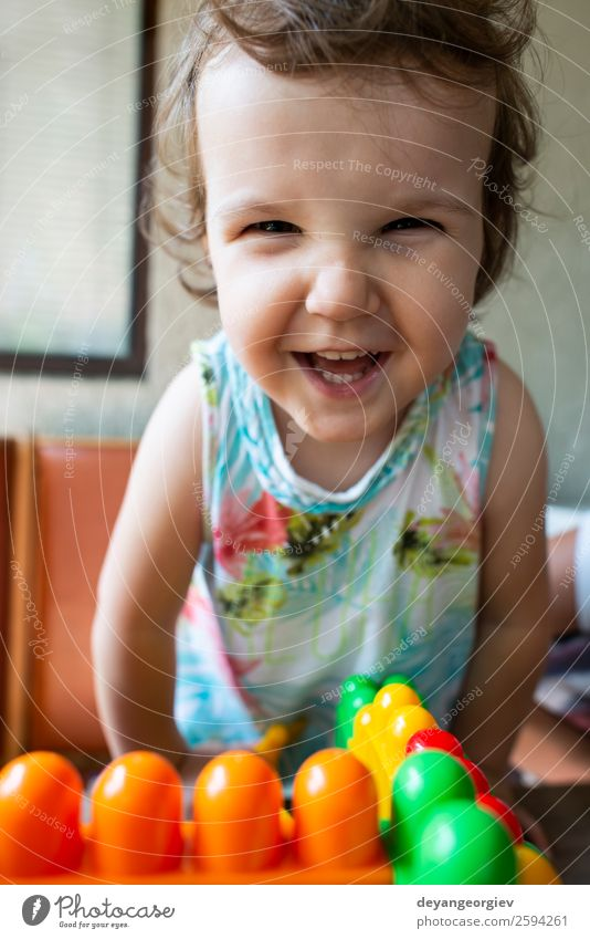 Smiling little girl Joy Happy Beautiful Face Playing Child Human being Baby Infancy Happiness Small Cute White hair kid kids young background cheerful Caucasian