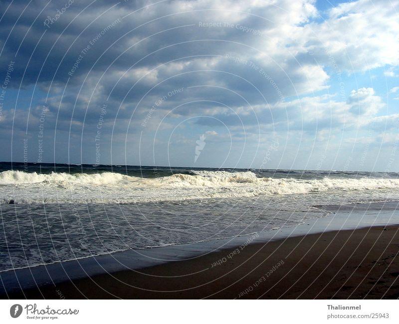 Storm at the beach Clouds Beach Light Ocean Coast Water