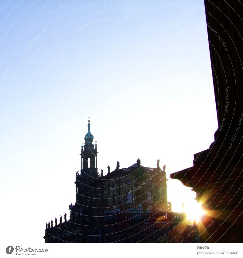 Court church with asterisk Tourism City trip Dresden Saxony Art Architecture Cloudless sky Sunlight Town Church Manmade structures Hofkirche Dresden Hofkirche