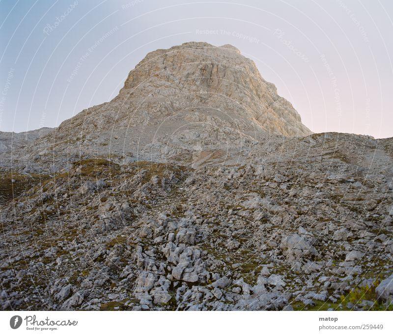 Fallen rock Vacation & Travel Mountain Nature Landscape Cloudless sky Beautiful weather Drought Rock Alps Schönfeldspitze Austria Berchtesgaden Alpes Peak