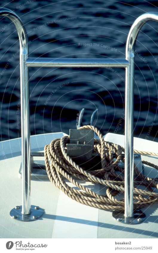 Water Ocean Blue Calm Lake Watercraft Rope