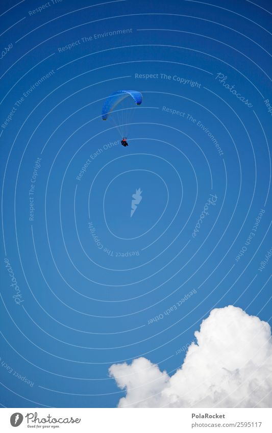 #A# Paragliding 1 Human being Esthetic Freedom Height Leisure and hobbies high achiever Success Prospect of success Blue Sky Tall Extreme sports Parachute