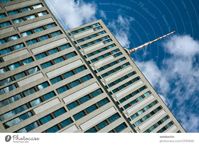 television tower Alexanderplatz Architecture Berlin Office City Germany Berlin TV Tower Television tower Worm's-eye view Capital city