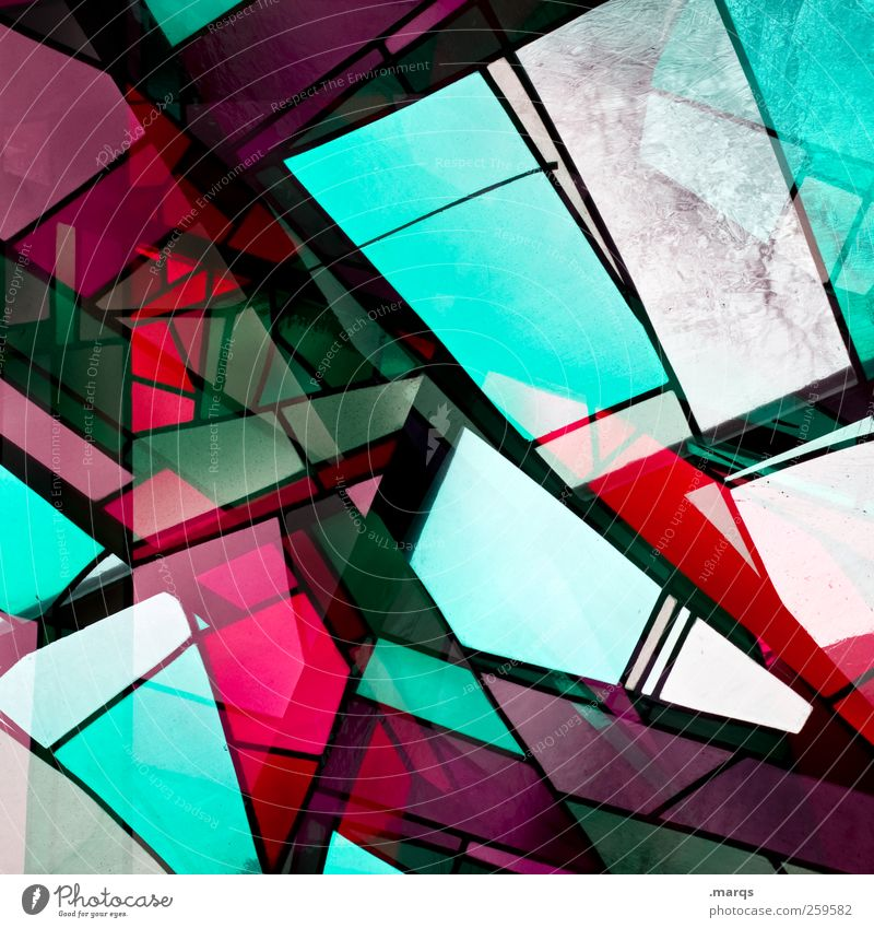 fragment Lifestyle Style Design Glass Illuminate Exceptional Hip & trendy Uniqueness Multicoloured Chaos Colour Perspective Church window Double exposure Mosaic