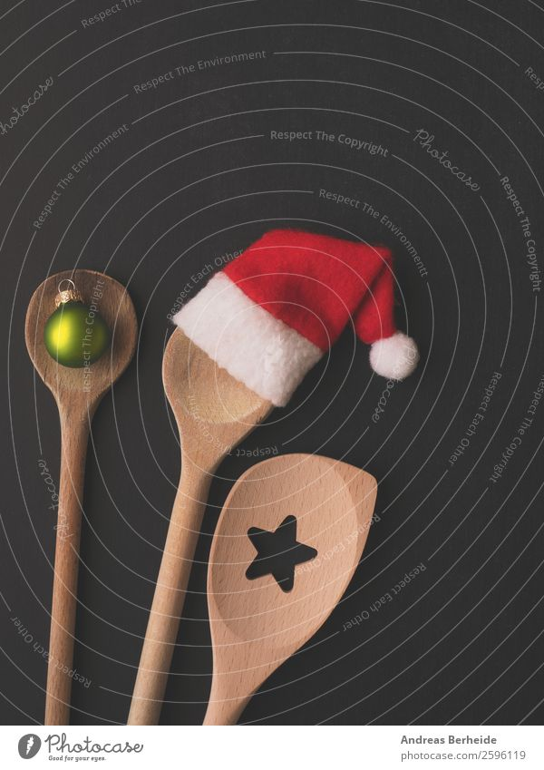 Three from the bakery Banquet Spoon Style Winter Restaurant Christmas & Advent Hat Cap Wooden spoon Kitsch Funny Background picture blackboard celebration