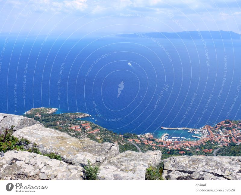 giglio Vacation & Travel Tourism Trip Far-off places Ocean Island Hiking Climbing Mountaineering Nature Landscape Water Sky Clouds Sun Beautiful weather Plant