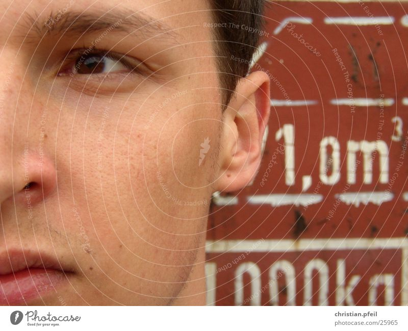 Man Old White Red Face Eyes Brown Masculine Characters Technology Mouth Nose Railroad Historic Near Lips