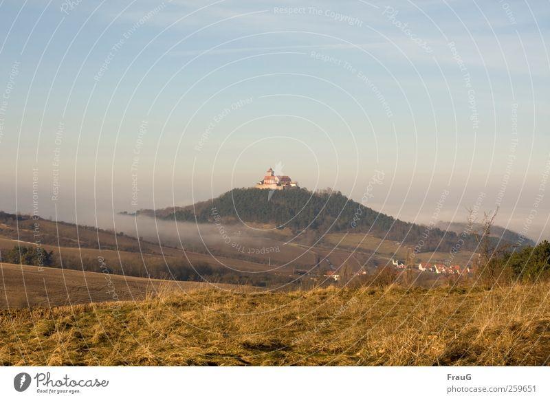 Sky Nature Environment Landscape Field Fog Hill Village Thuringia